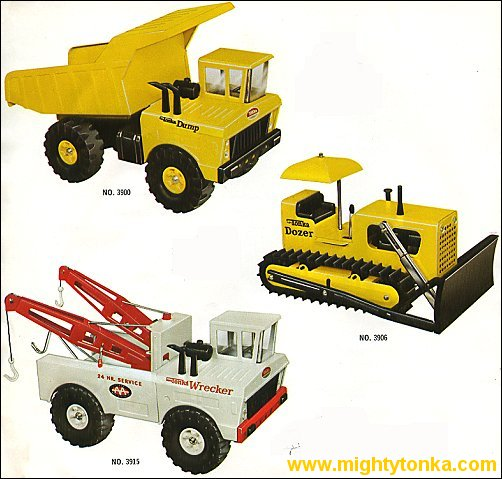 1970 Mighty Dump, Mighty Dozer and Mighty Wrecker