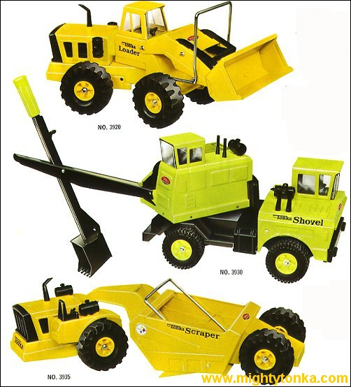 1970 Mighty Loader, Mighty Shovel and Mighty Scraper