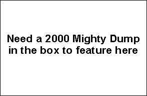2000 Yellow Mighty Dump Packaging